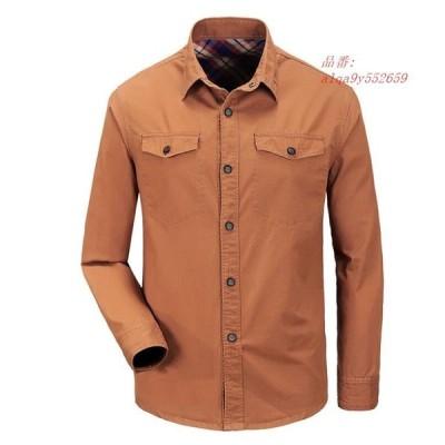 新しい 2019 100% コットンシャツ春と秋長袖貨物カジュアルアーミーミリタリーため AFS ZDJP グループ上 メンズ服 から カジュアル シャツ 中