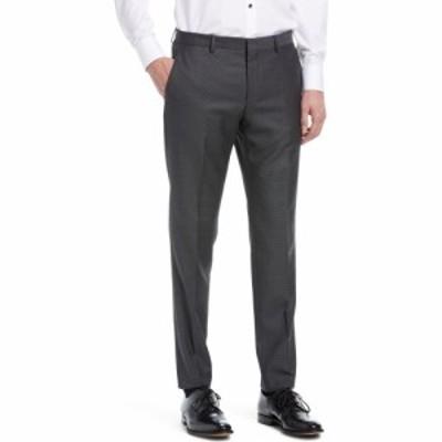 ヒューゴ ボス HUGO メンズ スラックス ボトムス・パンツ Micocheck Wool Trousers Open Grey