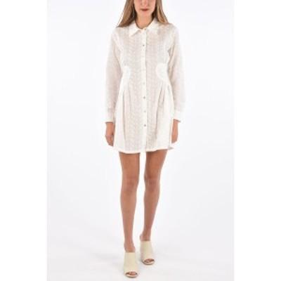 OPENING CEREMONY/オープニングセレモニー White レディース Embroidered Shirt Dress dk