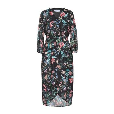 カオス KAOS ミニワンピース&ドレス ブラック 42 100% ポリエステル ミニワンピース&ドレス