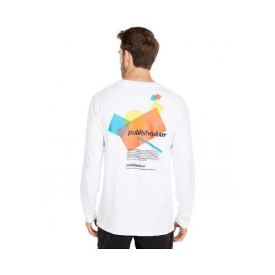 Publish パブリッシュ メンズ 男性用 ファッション Tシャツ Myers Long Sleeve T-Shirt - White