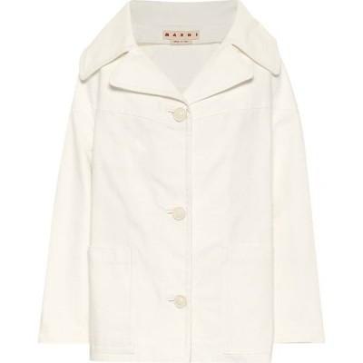マルニ Marni レディース ジャケット Gジャン アウター denim jacket Stone White
