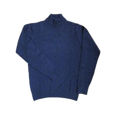ヒッキーフリーマン メンズニット カシミヤ100%  セーター タートルネック ブルー ベージュ M L LL HHNH