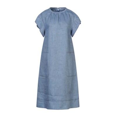 アニオナ AGNONA 7分丈ワンピース・ドレス ブルーグレー 42 コットン 100% 7分丈ワンピース・ドレス