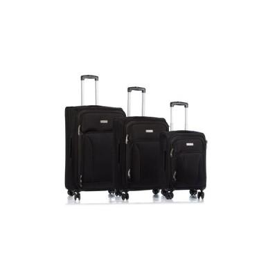チャンプス CHAMPS レディース スーツケース・キャリーバッグ バッグ 3-Pc. Travelers Softside Luggage Set Black