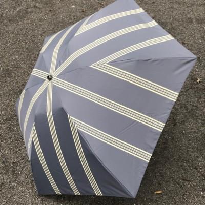 MOLLY MARAIS/モリーマレ プリント折傘 UM110017 チャコールグレーケイ