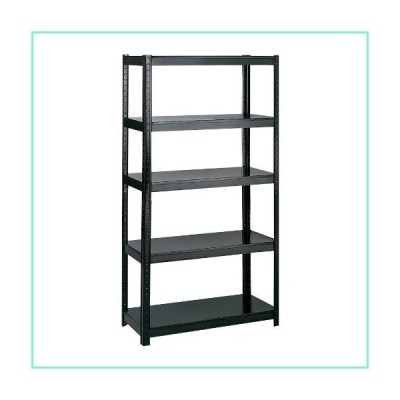 """Safco Products 5247BL Boltless Steel Shelving 36""""W x 24""""D x 72""""H, Black【並行輸入品】"""