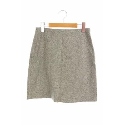 【中古】セオリー theory 19AW Speckle Wool Easy Waist スカートミニ 台形 0 グレー /AO ■OS ■SH レディース