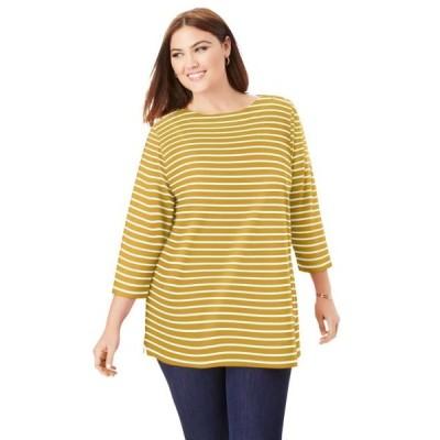 レディース 衣類 トップス Jessica London Women's Plus Size Boatneck Tunic ブラウス&シャツ