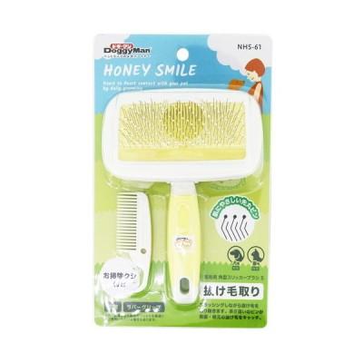 【HONEY SMILE 短毛用角型スリッカーブラシ S NHS-61 1個】