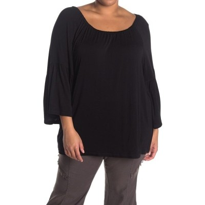 エックスシーブイアイ レディース Tシャツ トップス Ronan Bell Sleeve Top BLACK