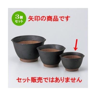 3個セット スリ鉢 和食器 / 黒マット麦とろ鉢(小) 寸法:11.3 x 10.3 x 6.8cm