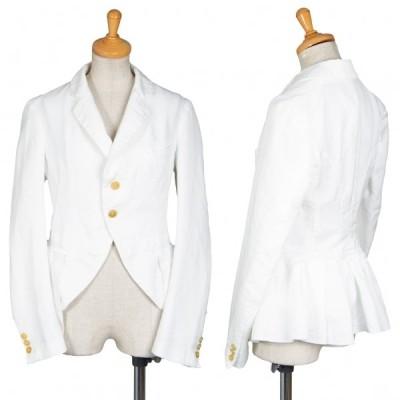 コムコム コムデギャルソンCOMME des GARCONS ポリプリーツペーストデザインジャケット 白SS 【レディース】