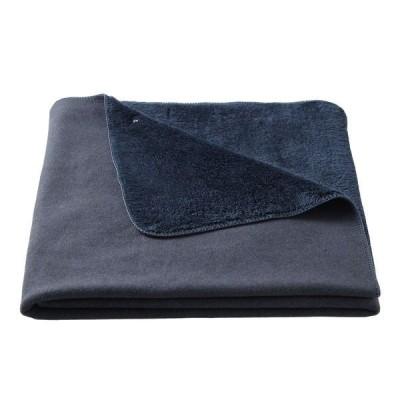 【アウトレット】無印良品 レーヨン混フリース羽織る毛布/杢ネイビー 100×140cm 1枚 82141016 良品計画