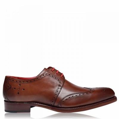 ジェフリー ウエスト JEFFERY WEST メンズ 革靴・ビジネスシューズ メダリオン シューズ・靴 Baywing Brogues Trav Mahog
