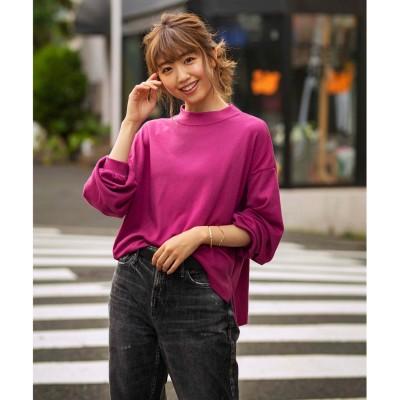 ジーラ GeeRA 【WEB限定】ハイネックボリュームロンT (ピンク)