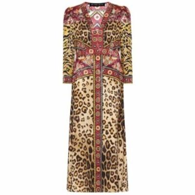 エトロ Etro レディース ワンピース ミドル丈 ワンピース・ドレス Leopard-print midi dress