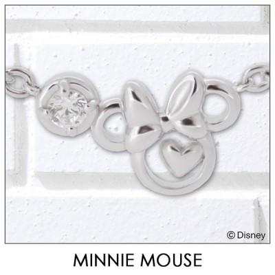 ディズニー Disney ミニーマウス ブレスレット ハート リボン シルバー ジュエリー アクセサリー レディース ブレス VBLDS20006 ミニー disney_y