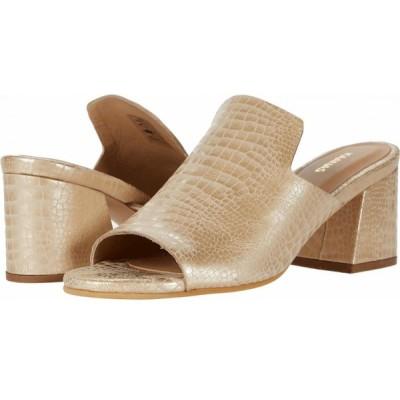 カーナス KAANAS レディース シューズ・靴 York Croc-Embossed Loafer Heel Champagne