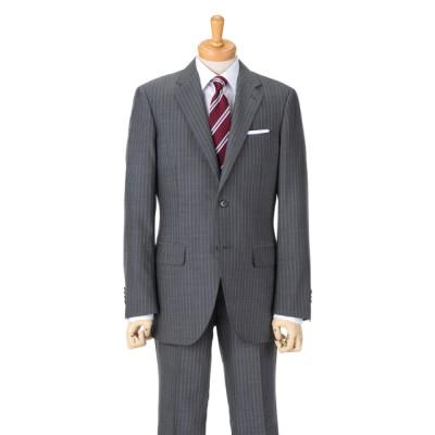 [紳士スーツスペシャル]ドールオム さりげない細めのストライプは知的で大人の雰囲気を演出。取り入れやすい1着です 1655601-H グレー A5