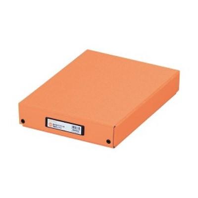 (まとめ) LIHITLAB デスクトレー G8300-4 A4 橙〔×10セット〕 〔送料無料〕