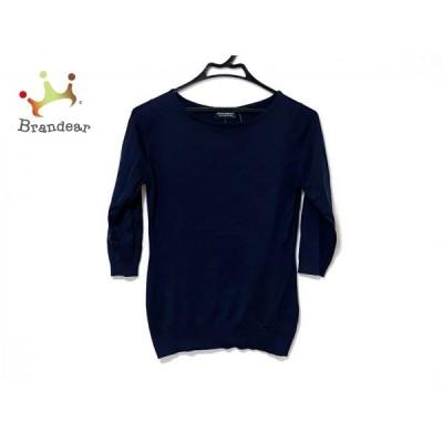 ジョンスメドレー JOHN SMEDLEY 七分袖セーター サイズM レディース ダークネイビー   スペシャル特価 20210107
