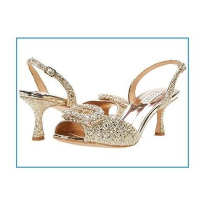 新品Badgley Mischka womens Gaela Heeled Sandal, Platino (Gold) Glitter, 7.5 US【並行輸入品】