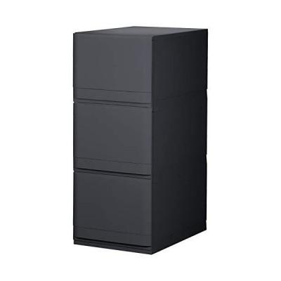 リブウェル(Livewell) 収納ケース ブラック 35cm幅 3段 リフラス -Liflas- PF353
