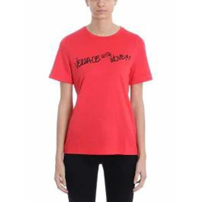 Versace レディースその他 Versace With Love Red Cotton T-shirt red