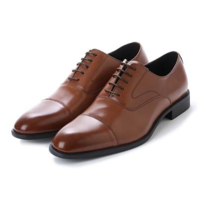 ピノポリーニ PINO POLLINI PN1020 トラッドレザービジネスシューズ  紳士靴 ストレートチップ 牛革 社会人 結婚式 ブラウン