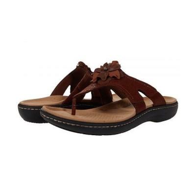 Clarks クラークス レディース 女性用 シューズ 靴 サンダル Laurieann Gema - Brown Leather/Synthetic Combination