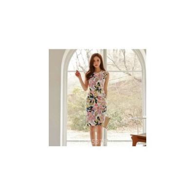 レディースワンピース新作上品花柄パーティーファッションOLドレス