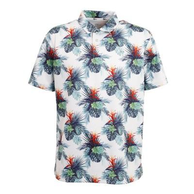 ニューエラシャツ半袖 ポロシャツ テック ホワイトボタニカル 12674308ホワイト