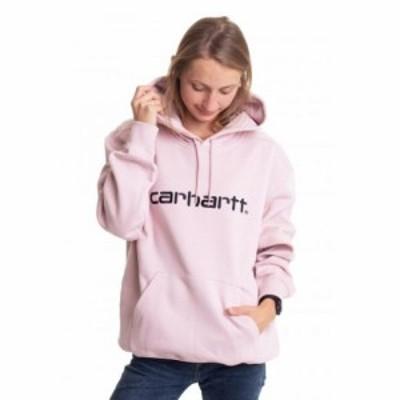 カーハート Carhartt WIP レディース パーカー トップス - Hooded Sweat Frosted Pink/Black - Hoodie pink