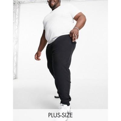 フレンチコネクション French Connection メンズ ジョガーパンツ スキニー・スリム ボトムス・パンツ Plus Essentials jogger in slim fit in black ブラック