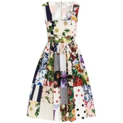 DOLCE&GABBANA/ドルチェ&ガッバーナ Multicolor Patchwork midi dress レディース 春夏2021 F6N0BTGDY45S9000 ju