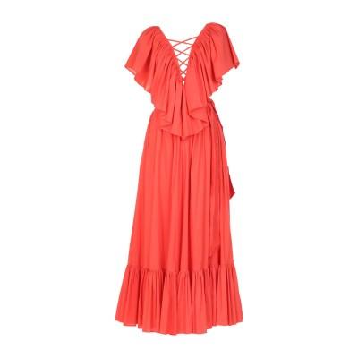 RALUCA MIHALCEANU ロングワンピース&ドレス オレンジ M コットン 70% / ナイロン 30% ロングワンピース&ドレス