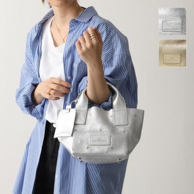 NUR DONATELLA LUCCHI ヌールドナテッラルッキ 2490 VIOLA MINI Iam. カラー2色 メタリックレザー ハンドバッグ ミニスター刺繍 鞄 レディース