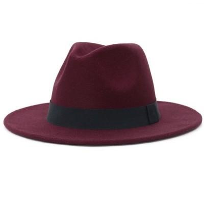 ハット中折れ帽子メンズレディース帽子秋冬ソフトハット男女兼用ハットきれいめオシャレつば広