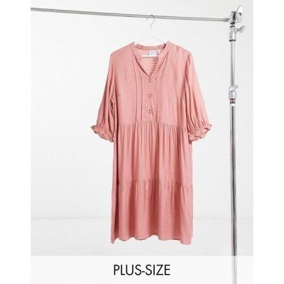 ジュナローズ レディース ワンピース トップス Junarose smock dress in pink Old rose