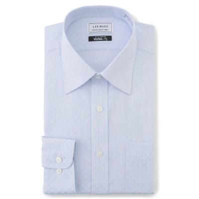 抗ウイルス加工 バリエックス+Ag 形態安定 レギュラーカラーシャツ 織柄市松