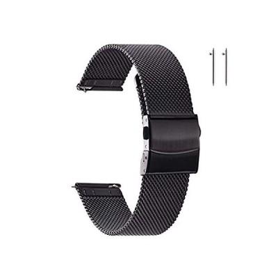 EACHE Stainless Steel Mesh Watch Bands for Men Quick Release Mesh Watch Str[並行輸入品]
