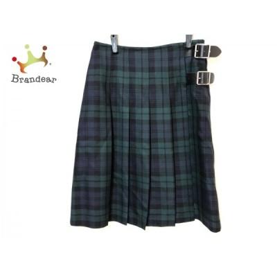 オニール O'NEIL ロングスカート サイズ40( I ) レディース - ネイビー×ダークグリーン×マルチ 新着 20200810