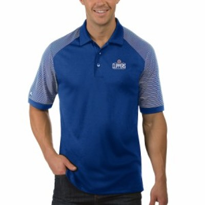 """メンズ ポロシャツ """"LA Clippers"""" Antigua Engage Polo - Royal"""