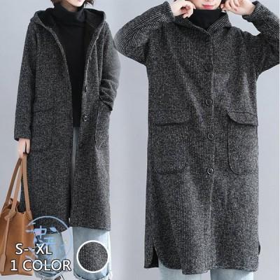 ムートンコート ロング丈コート 防寒コート 裏起毛コート ジャケット アウター フード付きコート レディース 無地 ゆったり 暖かい 冬服 大きいサイズ 着回し