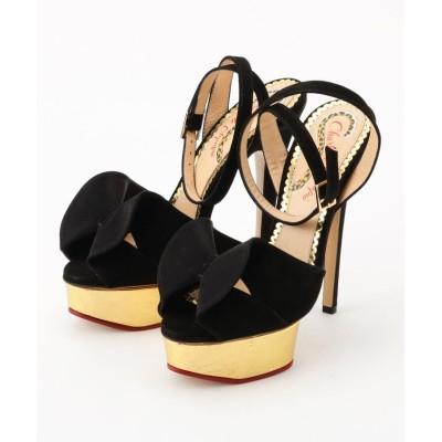 OFF PRICE STORE(Fashion Goods)(オフプライスストア(ファッショングッズ)) Charlotte Olympia メタリックプラットフォームスエードサンダル