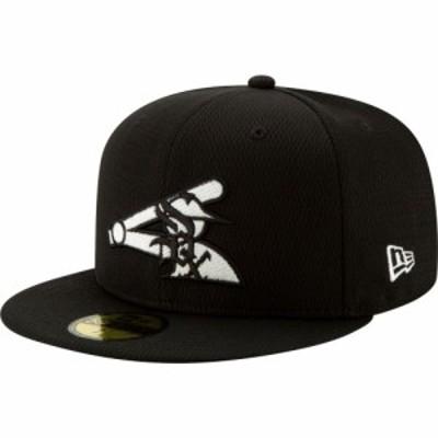 ニューエラ New Era メンズ キャップ 帽子 Chicago White Sox 59Fifty Black Batting Practice Fitted Hat