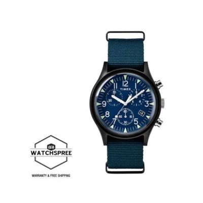 腕時計 タイメックス Timex Men's MK1 Aluminum Chronograph 40mm Fabric Watch TW2R67600
