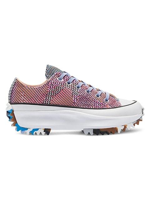 Run Star Hike Low-Top Knit Sneakers