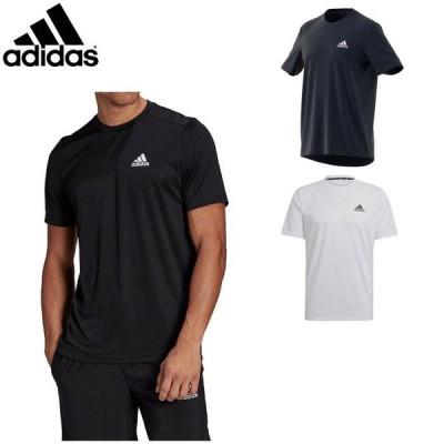 アディダス メンズ Tシャツ 半袖 シャツ トップス トレーニングウェア スポーツウェア 運動 ジム ランニング ワンポイント adidas 42164